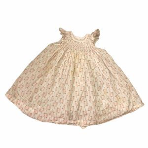 Feather Baby Smocked Fit & Flare Dress Birds 9-12m